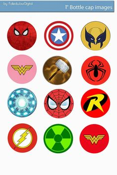 Folie du Jour Bottle Cap Images: Marvel comics free digital bottle cap images