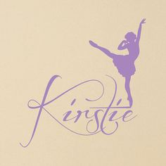Ordered for Mac...her 1st choice - Custom Name With Ballerina - Girl's Room Wall Art Vinyl Personalized