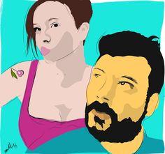 #ilustración #illustration #portrait #retrato #present #regalo @sakura