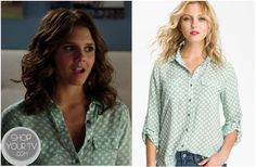 The Lying Game: Season 2 Episode 8 Sutton's Mint Polka Dot Blouse Sutton Mercer (Alexandra Chando) wears this mint green polka dot chiffon blouse in this week's episode of The Lying Game.
