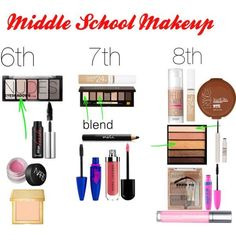 No idea on what to wear when you go back to school? Here are amazing/ the best drugstore/ cheap makeup products you could get according to your needs and school grade- middle school.