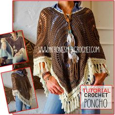 como se teje poncho calado crochet video tutorial