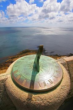 Clock Hourglass Sundial Time: Sundial, St. Michael's Mount, by Victor Keech, via Flickr.