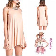 Essential Blush Dress Perfect dress for day or night. Wardrobe essential dress. 95% Rayon, 5% Spandex April Spirit Dresses