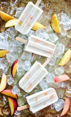 Vegan Peaches and Cream Ice Pops