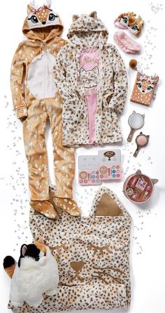 A-doe-able one-peices and purrfect sleepwear and accessories, just for her. Girls Fashion Clothes, Tween Fashion, Girl Fashion, Fashion Outfits, Cute Pjs, Cute Pajamas, Barbie Fashionista, Tween Girls, Cute Girls