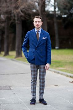 Double Breasted Suit, Suit Jacket, Street Style, Suits, Blog, Jackets, Fashion, Down Jackets, Moda