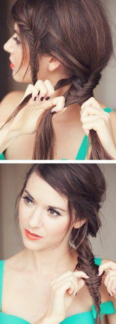 coiffure simple et rapide pour cheveux mi longs femme