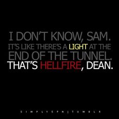 One of my favorite lines #supernatural