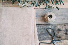 Crea un cojín con tela de saco  : via La Chimenea de las Hadas