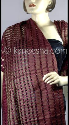 Ethnic Indian Silk Woven Stole