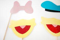Photo Booth Props Disney del pato Donald y por MilkTeaMochiDesigns