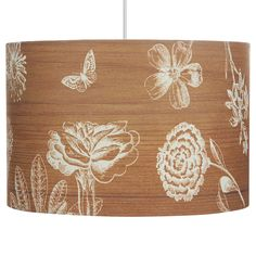 George Home Natural Floral Drum Lampshade | Lighting | ASDA direct