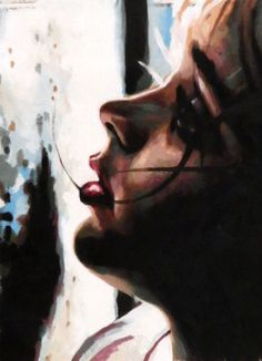 (Pinned by AshOkaConcept ॐ) - Thomas Saliot's painting Thomas Saliot, Sketch Painting, Oil Painting Abstract, Oil Paintings, Art Thomas, Pictures To Draw, Artist Art, Female Art, Art Images