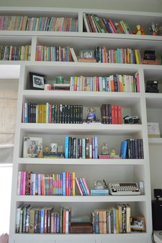 There are never enough bookshelves - ever.  Like the ladder.
