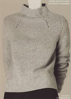 Ravelry: RobynRedBird's Funnel Neck Pullover Isn't this an Adrienne Vittidini pattern?