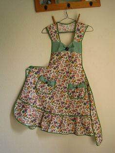Fruits And Checks Vintage Inspired Apron by SimpleNecessities
