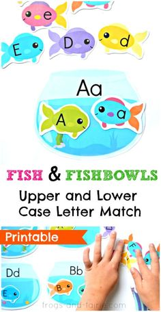 This printable upper and lower case letter matching activity is a fun way to work on letter recognition with your kids!
