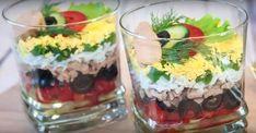 "Новогодний салат-коктейль ""Гавань"" с печенью трески (без майонеза)"