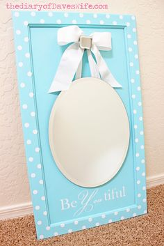 Here is a great Mother's Day gift to make, this beautiful mirror board. It was created with Martha Stewart craft products. #Martha Stewart #crafts #mirror #Mother's Day