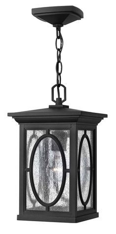 Randolph Hanger Outdoor shown in Black by Hinkley Lighting - 1492BK-LED