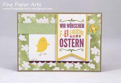 Stampin' up! Osterkarte, easter card, Stempelset Ei, ei, ei, For Peeps' Sake, DSP Zauberhaft, Specialty Designer Series Paper Irresistibly Yours - Fine Paper Arts