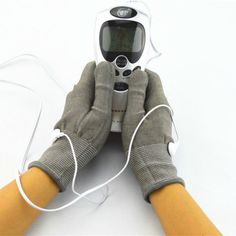 Acupuncture Digital Therapy Massager With Pair Of Electrode Gloves