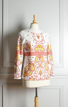 60s Mod Floral Shirt by thriftage on Etsy