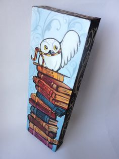 Hedwig Painting on Canvas & Free US Shipping. $220.00, via Etsy.