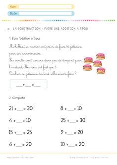 Addition à trous - Ce1 - Exercices corrigés | Matematyka ...