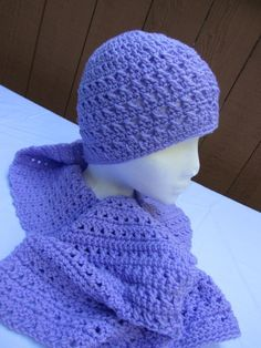 soft purple hat and scarf - Crochet creation by Susanbeingsnippy   Crochet.Community