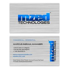 Business Card Design for MZED Technologies. CEO, designed by Moksha Media - Daymond E. Lavine