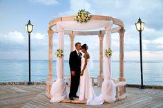 Beach wedding without the sand. Caribbean destination wedding in Jamaica