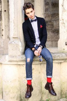 Bow tie and red socks