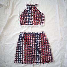Moving SALE 3 Red White and Blue Mod Crop and by AlteredStatesAu, $45.00