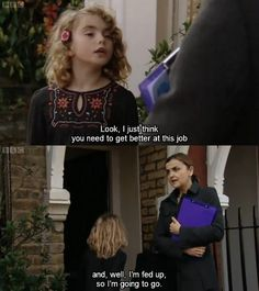 The most wise, yet savage kids to ever grace British TV. Comedy Tv, Comedy Show, British Comedy, British Humour, British Slang, British Sitcoms, Private School Girl, Savage Kids, Funny Kids