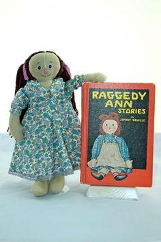 Classic raggedy ann doll 13 inches 33cm cloth by ParisJavaDolls