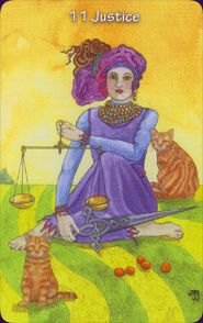 Justice from The Hezicos Tarot