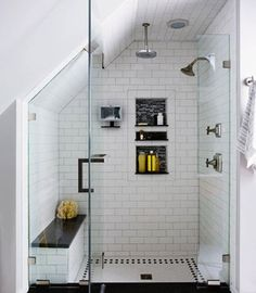 Photos via: This Old House Love the attention to detail in this stunning master bath remodel . Dat shower doe!