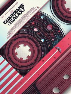 Guillaume Morellec Guardians Of The Galaxy art print poster Marvel Bottleneck