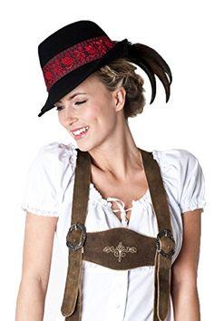 #Ludwig und #Therese #Damen #Bayerischer #Trachten-Hut #Alina #schwarz #5204 #56…