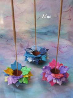 Polymer clay incense holder