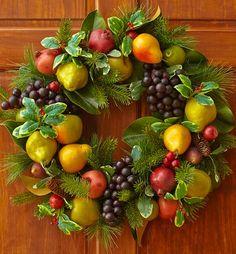 "24"" Classic Fruit Wreath | Christmas Fruit Wreaths | 1800FLOWERS.COM-97916"