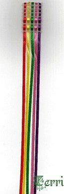 Bible Bookmark - Plastic Canvas and coloured ribbons