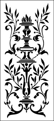 Panel No 2 stencil from The Stencil Library REGENCY AND EMPIRE range. Buy stencils online. Stencil code ER52.