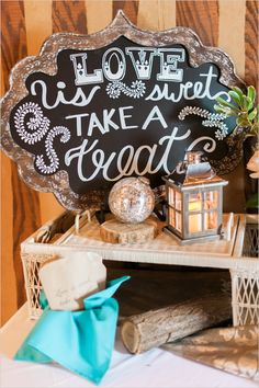 love is sweet treat sign