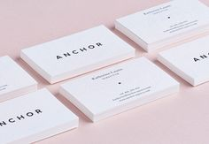 Anchor Agency Corporate identity branding graphic design business card logo minimal pattern illustration