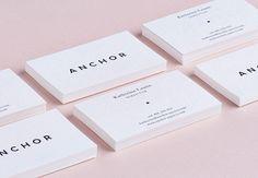 Anchor Agency Corporate identity branding graphic design business card logo minimal pattern illustration