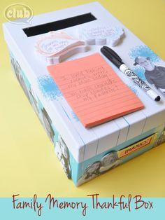 Create a Family Memory Thankful Box