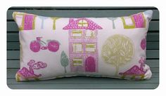 cushion in the lovely John Lewis - My House fabric made by Lisa Bee